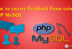 feedback form using PHP MySQL