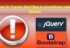 alert box in bootstrap