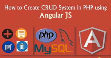 CRUD System in PHP using Angular JS