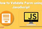 validate form using javascript