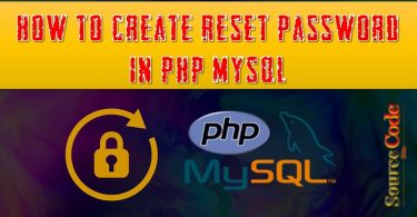 How to create Reset Password in PHP MySQL