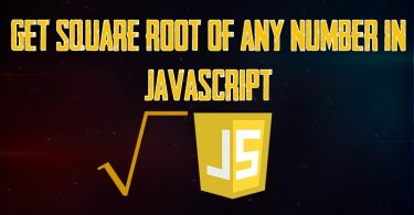 Get square Root of any Number in JavaScript