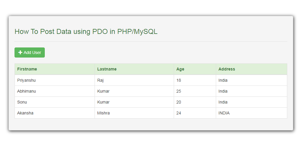 How To Post Data using PDO in PHP/MySQL